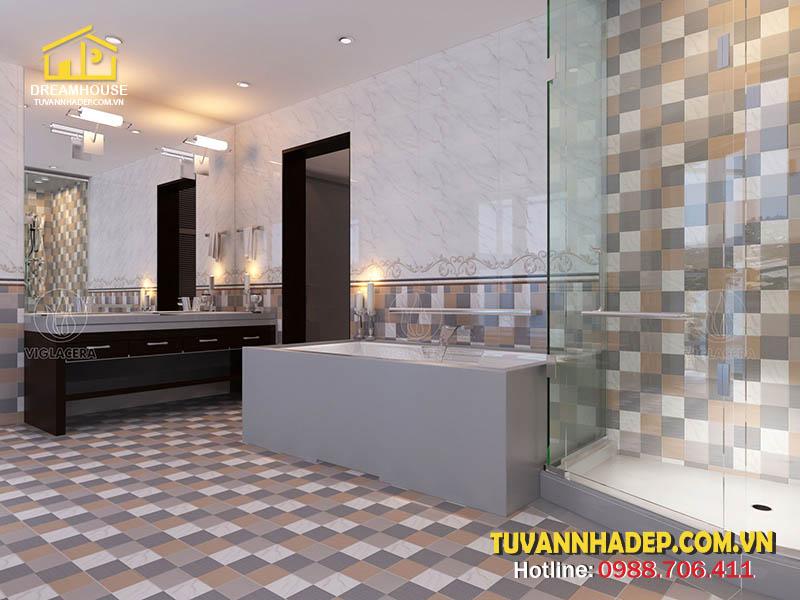 cách chọn gạch lát nền đẹp cho phòng tắm
