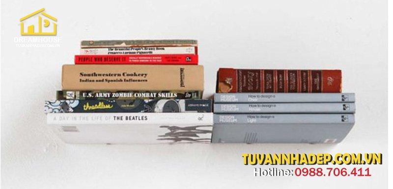 mẫu gía sách tàng hình