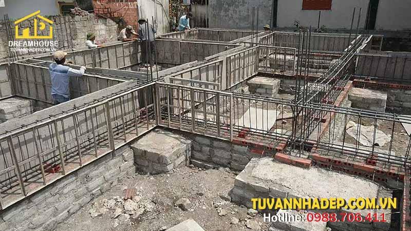 hướng dẫn chọn kết cấu móng cho nhà 2 tầng