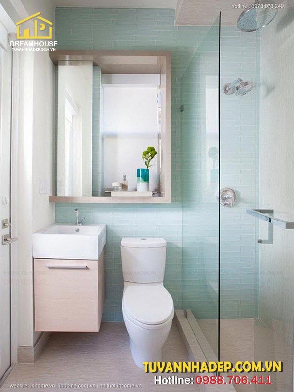 Phòng tắm có diện tích nhỏ