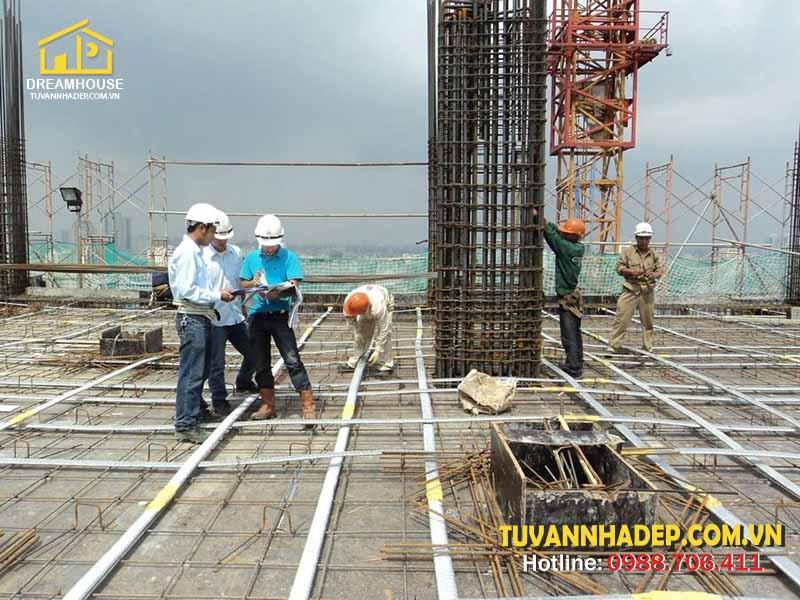 công tác đổ bê tông cột