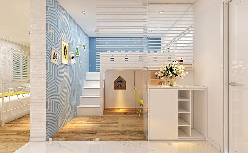 phòng ngủ cho bố mẹ và bé