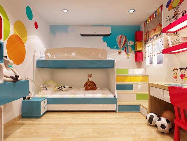 cách trang trí phòng ngủ cho bố mẹ và trẻ nhỏ