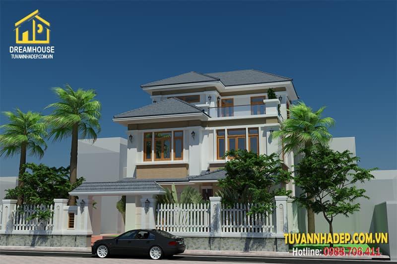 Ngôi nhà được thiết kế theo phong cách tân cổ điển