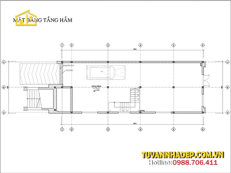 bản vẽ mặt bằng tầng 1 biệt thự 2 tầng tân cổ điển 118m2