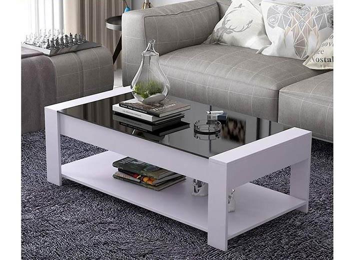 bàn phòng khách mặt kính màu trắng