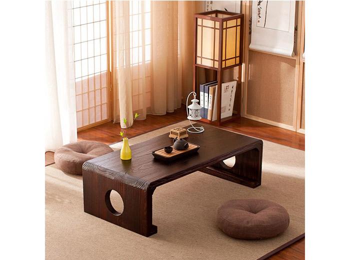 bàn tiếp khách ngồi bệt bằng gỗ