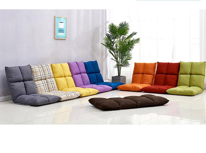 những chiếc ghế ngồi bệt nhiều màu sắc