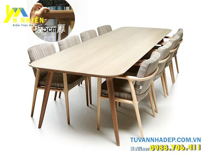 bàn ăn bằng gỗ đỏ 8 người