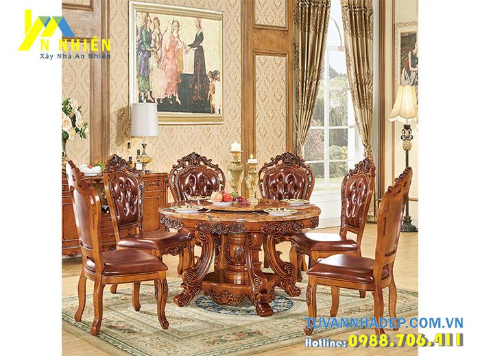bàn ăn bằng gỗ gõ đỏ