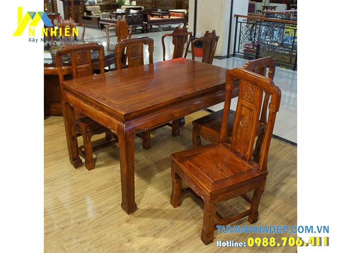 gỗ gõ đỏ làm bàn ăn