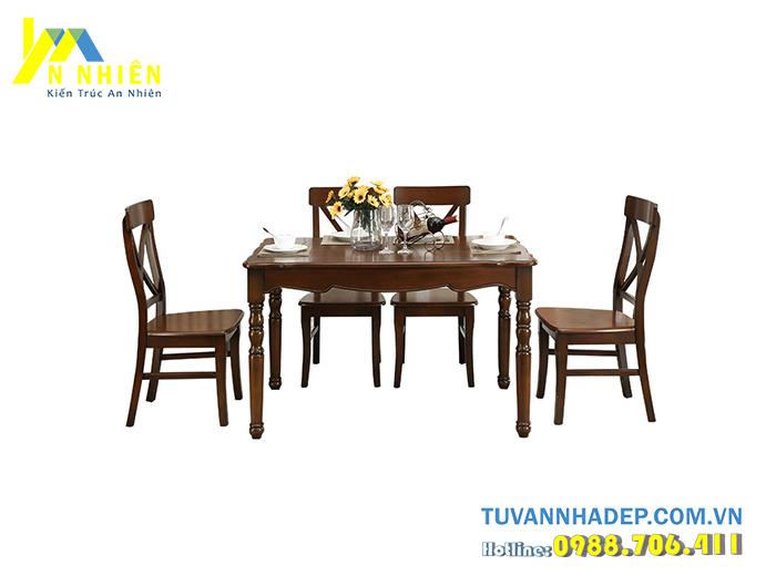 mẫu bàn ăn bằng gỗ lim đẹp
