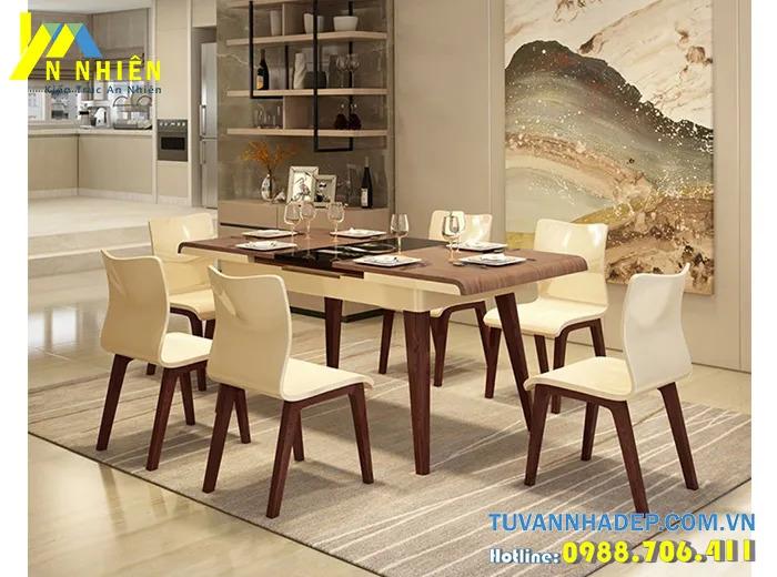 mẫu bàn ăn gỗ sồi