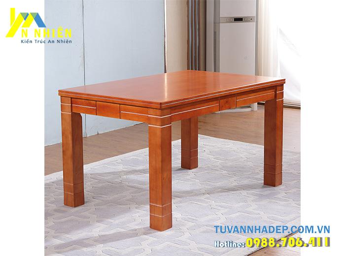 bàn ăn gỗ xoan giá rẻ