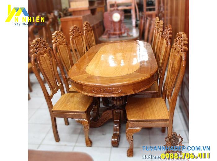 gỗ căm xe làm bàn ghế