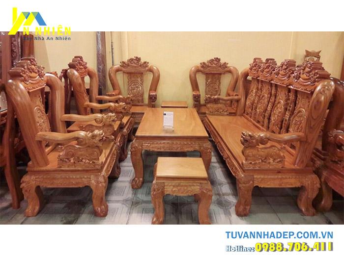 bàn ghế gỗ căm xe