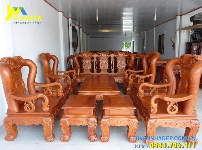 mẫu bàn ghế đẹp bằng gỗ căm xe