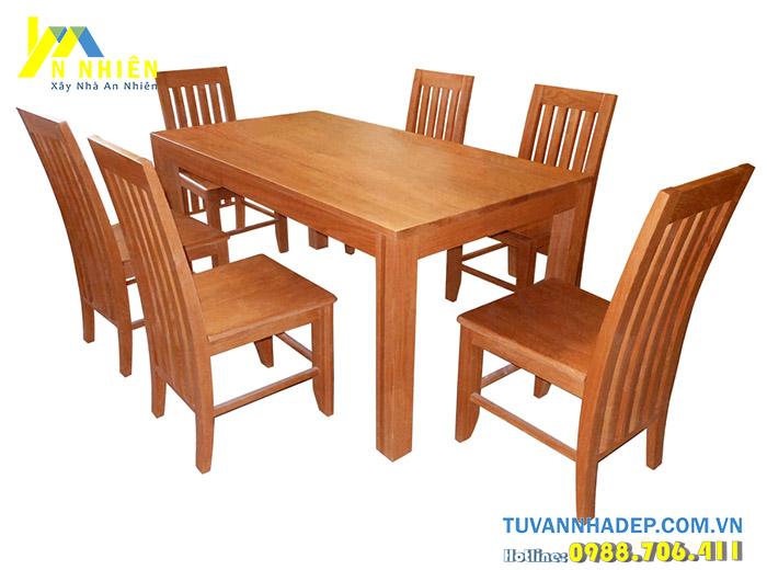 bàn ghế ăn bằng gỗ căm xe