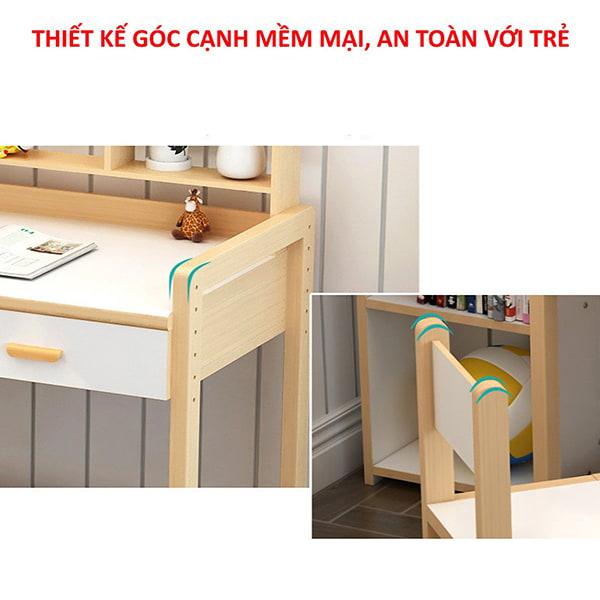Thiết kế đơn giản, góc cạnh được vuốt cong an toàn khi sử dụng