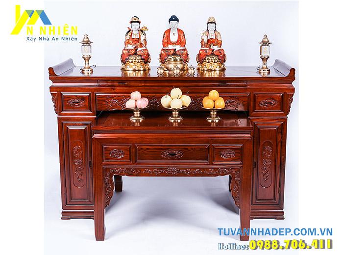 hình ảnh ban thờ bằng gỗ hương