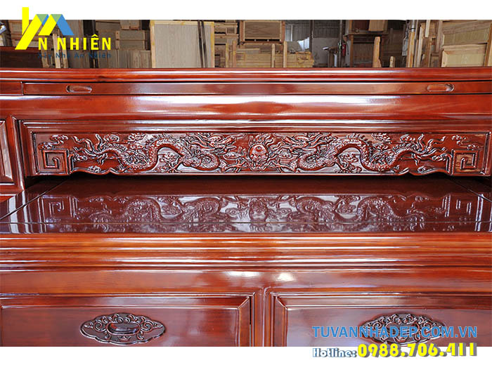 lập ban thờ bằng gỗ mít