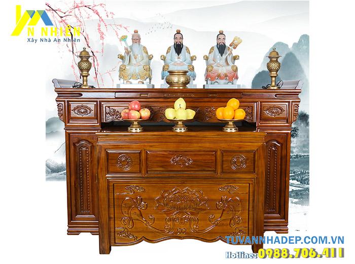 mẫu bàn thờ sang trọng