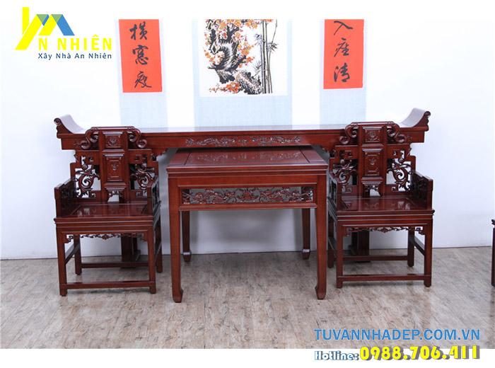 bàn thờ bằng gỗ gụ đỏ
