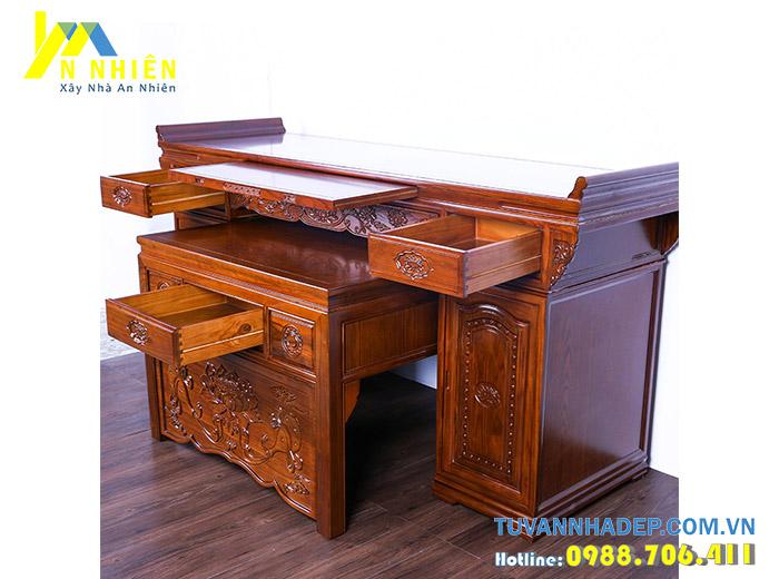 hình ảnh bàn thờ bằng gỗ gụ
