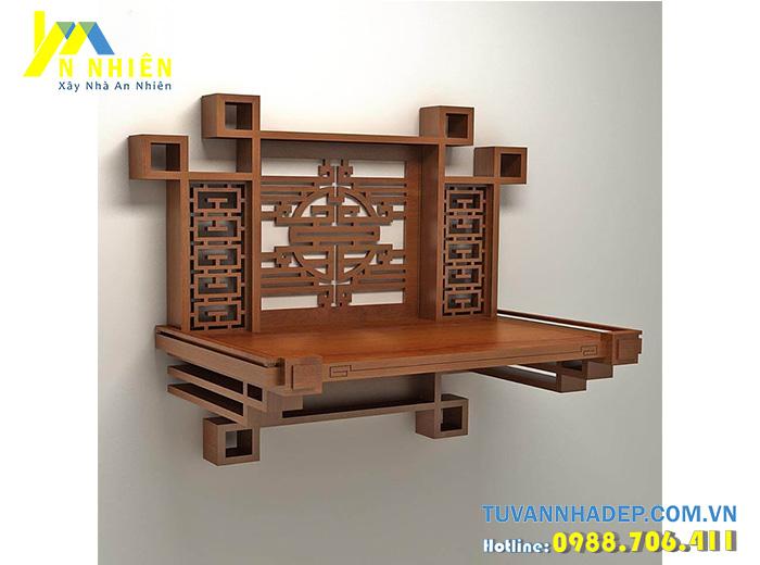 bàn thờ treo bằng gỗ