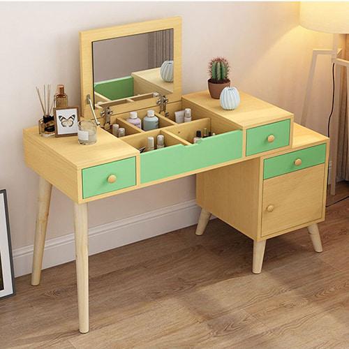 Mẫu bàn trang điểm màu vàng đẹp