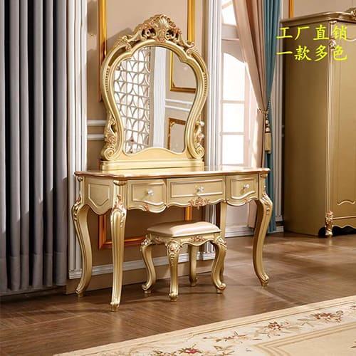 Màu vàng hợp mệnh Kim cho phái đẹp lựa chọn bàn trang điểm
