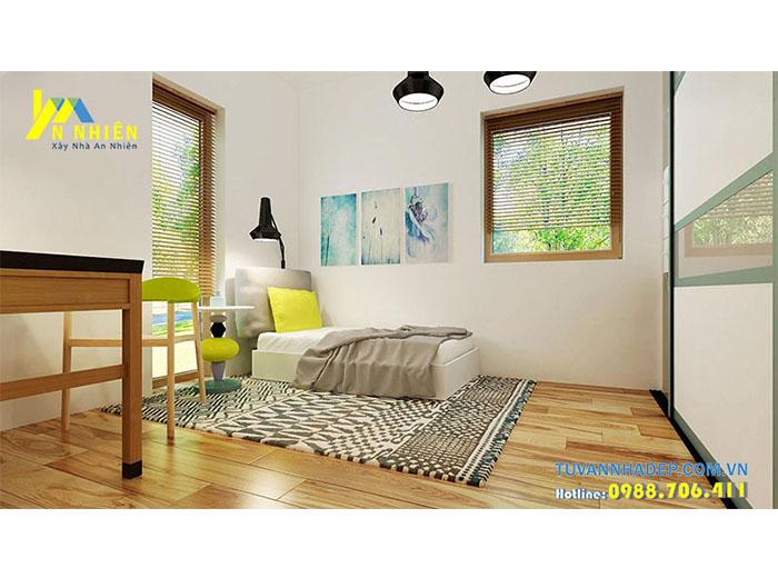 phòng ngủ với màu sắc tươi sáng