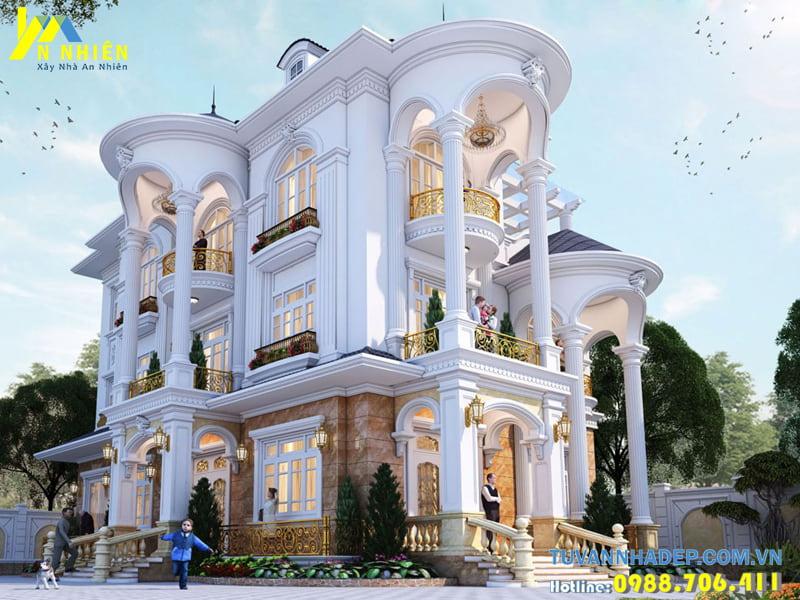 Biệt thự 3 tầng mặt tiền 11m