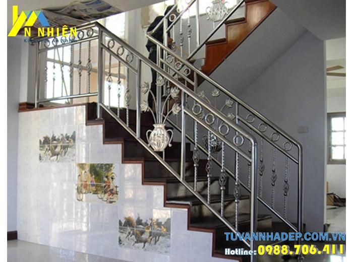 cầu thang đẹp bằng inox