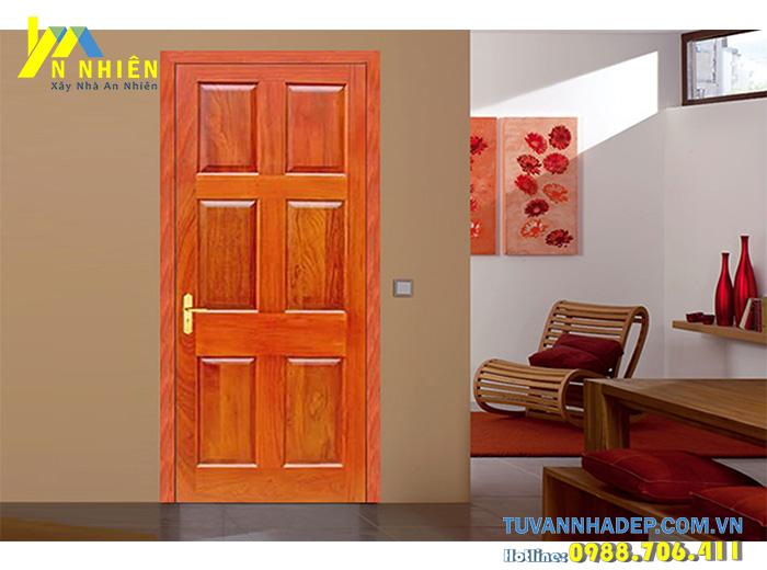 cửa nhà bằng gỗ căm xe