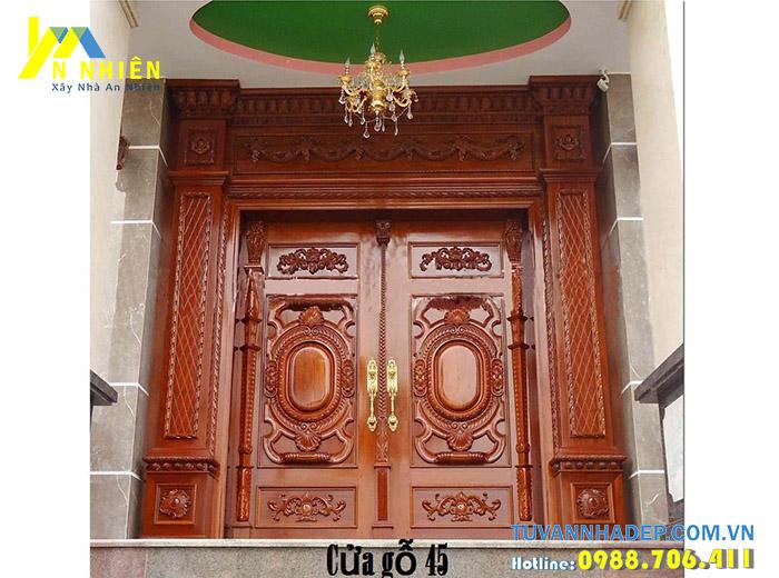 cửa nhà đẹp bằng gỗ