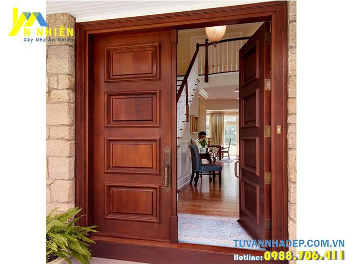 hình ảnh cửa nhà bằng gỗ đẹp