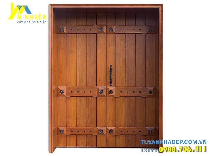 cửa 2 cánh bằng gỗ căm xe