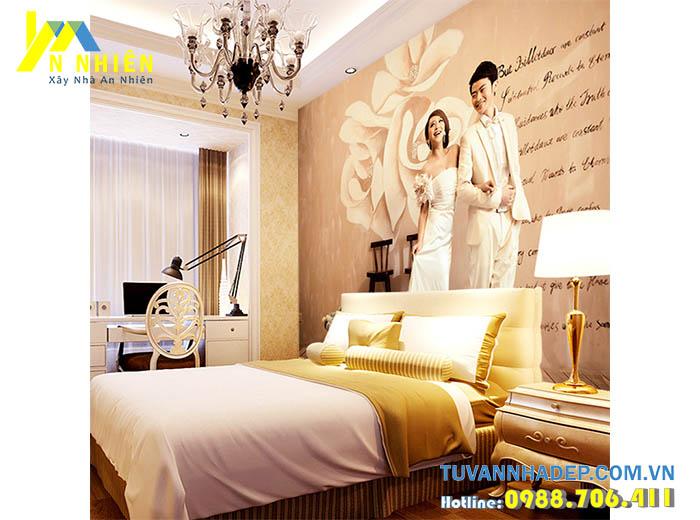 phòng ngủ lung linh với đèn thả trần