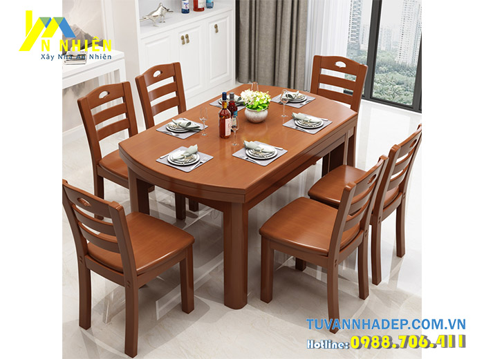 ghế ăn gỗ cho gia đình