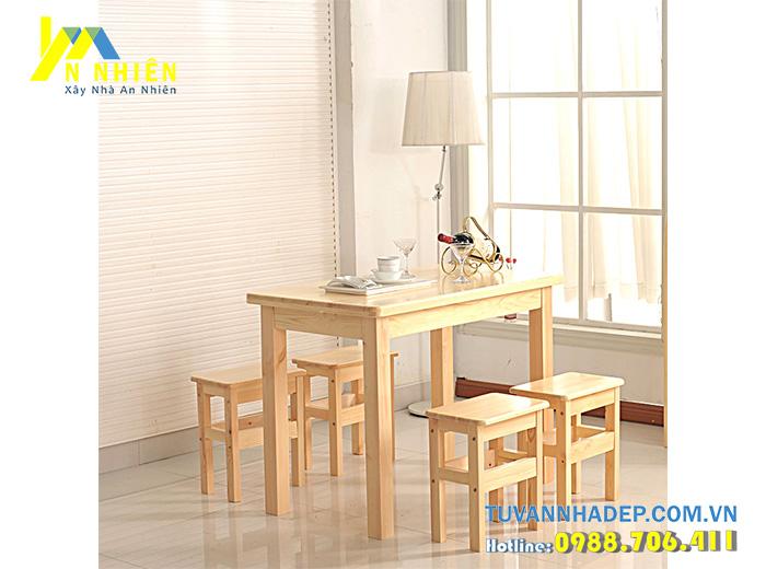 ghế ăn bằng gỗ đơn giản