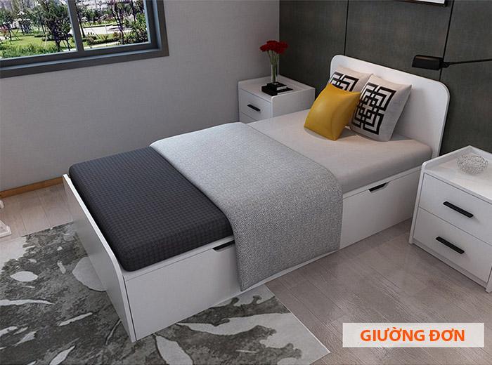 giường đơn kiểu hiện đại