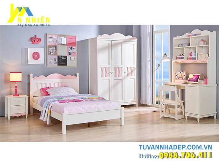 giường cho bé gái 1m2