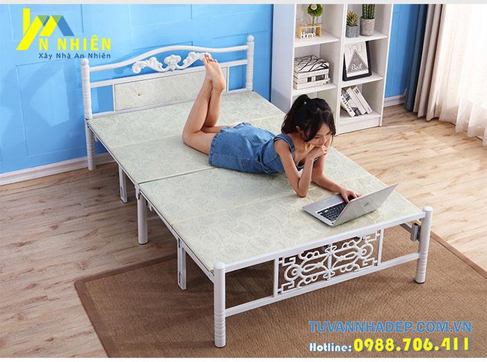 giường sắt gấp tiện dụng