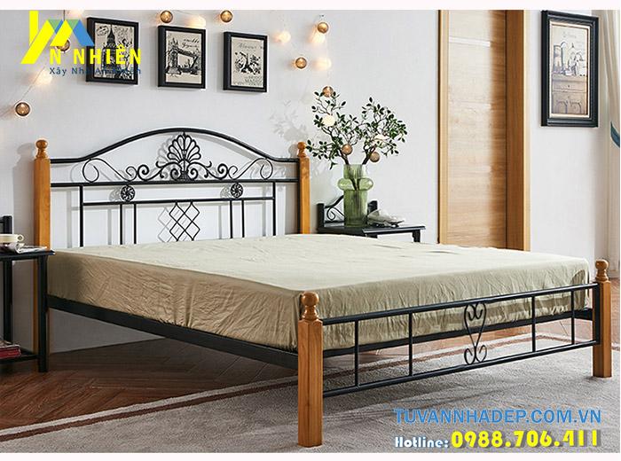 mẫu giường sắt đơn giản