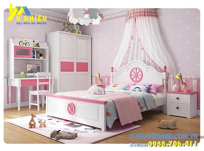 giường công chúa nhỏ cho bé gái