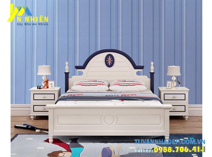 mẫu giường đơn đẹp cho bé trai