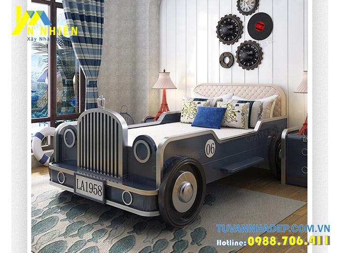 giường mô hình ô tô cho bé trai