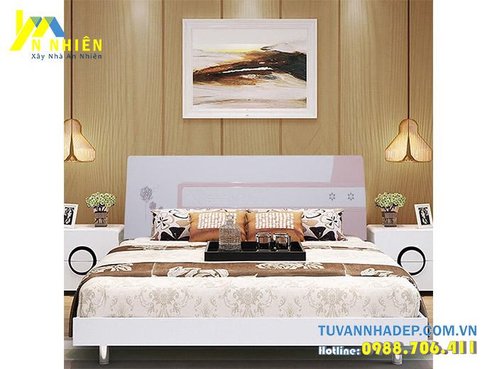 giường làm bằng gỗ công nghiệp