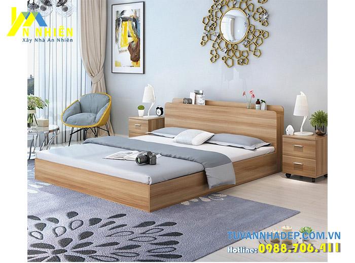 hình ảnh giường ngủ bằng gỗ công nghiệp